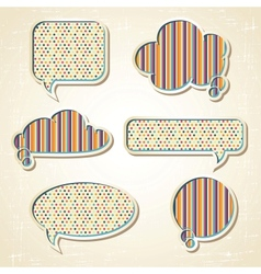 Pattern Speech Bubbles Dialog set vector image