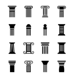 pillar drawing pack vector image