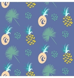 Pineapple abstract exotic blue seamless vector
