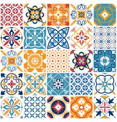 Portugal seamless pattern vintage mediterranean vector