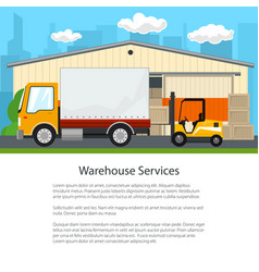 Poster of warehouse services vector