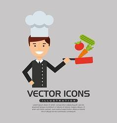 Professional chef design vector