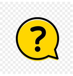 question mark in yellow bubble faq mark vector image