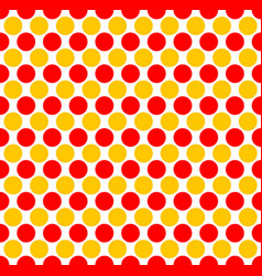 Red yellow dotted polka dot background vector