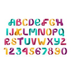 ribbon script font vector image