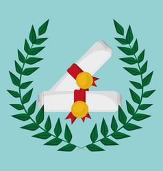 School certificate study emblem vector