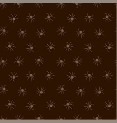 seamless dark pattern with spiders vector image