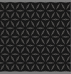 Seamless pattern with outline rhombuses vector