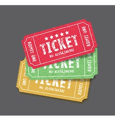 Set colourful tickets vector