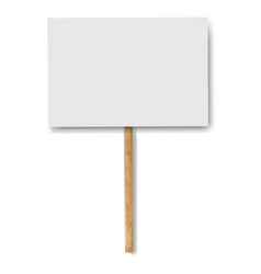 sign banners on wood stick white background vector image