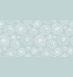 Silver grey flower garden seamless repeat vector
