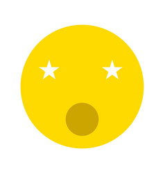 singing smiley icon vector image
