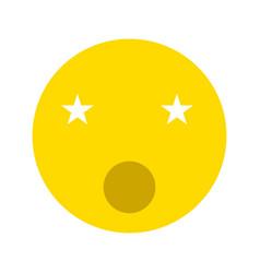 singing smiley icon vector image