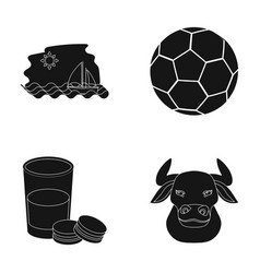 Spain bullfights and or web icon in black style vector
