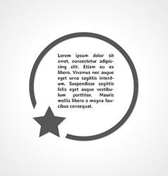 Star symbol and circle vector