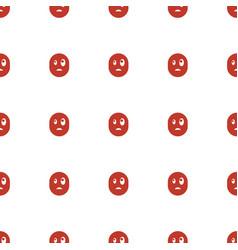 Surprised emot icon pattern seamless white vector