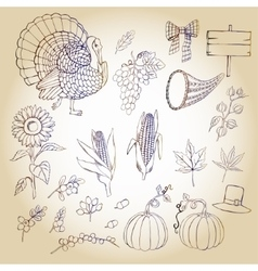 Thanksgiving day and autumn harvest vector image