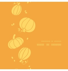 Thanksgiving golden pumpkins vertical frame vector image