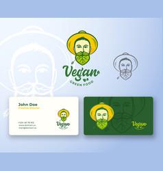 Vegan food abstract abstract logo and vector