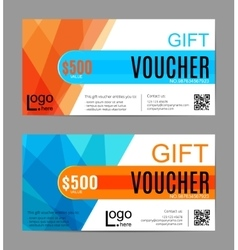 Voucher Gift certificate Coupon template Floral vector