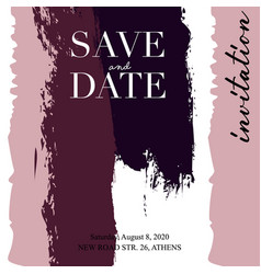 wedding invitations grunge texture card template vector image
