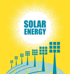 with solar panels and sunshine vector image