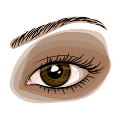 woman brown beautiful eye vector image