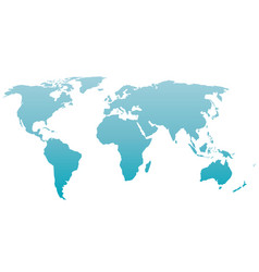 World map silhouette blue gradient vector
