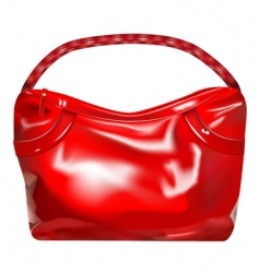 girl handbag vector image vector image