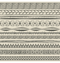 hand-drawn lines set vector image