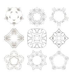 Set of stars colors circular patterns and vector image
