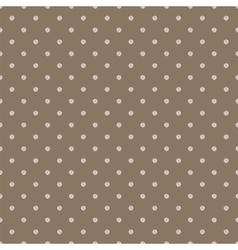 Vintage brown background with grunge polka dots vector image