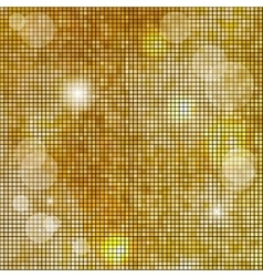 Abstract square golden mosaic background vector image
