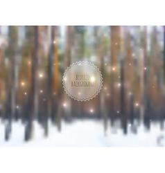 blurred forest design vector image