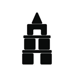 Children blocks black simple icon vector image