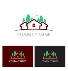 home realty tree logo vector image vector image
