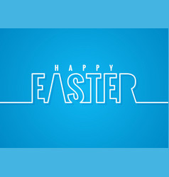 easter line lettering poster background vector image vector image