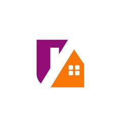 house roof realty company logo vector image