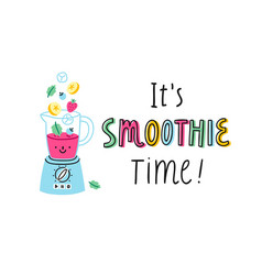 smoothie time vector image vector image