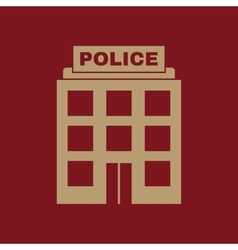 The police icon Law and authority symbol Flat vector image