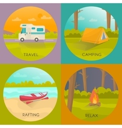 Tourist Campings Concept vector image vector image