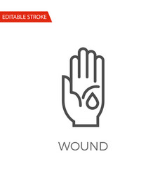wound icon vector image vector image