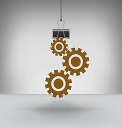 Clip Gears vector image