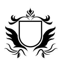 decorative shield heraldry victorian elegant frame vector image