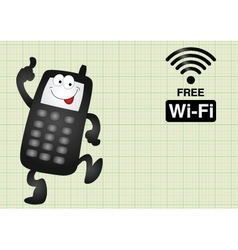 Free Wifi connection vector image vector image
