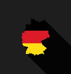 Germany flag map flat design vector