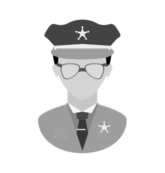 grayscale police officer icon image vector image