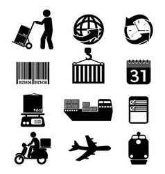 Logistics Icon Set Graphic vector image
