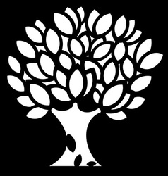 Ornaments spring Tree silhouette vector image vector image