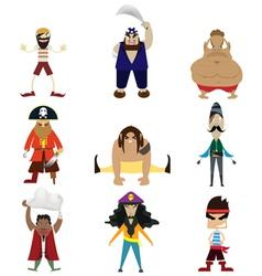 Pirate cartoon vector image